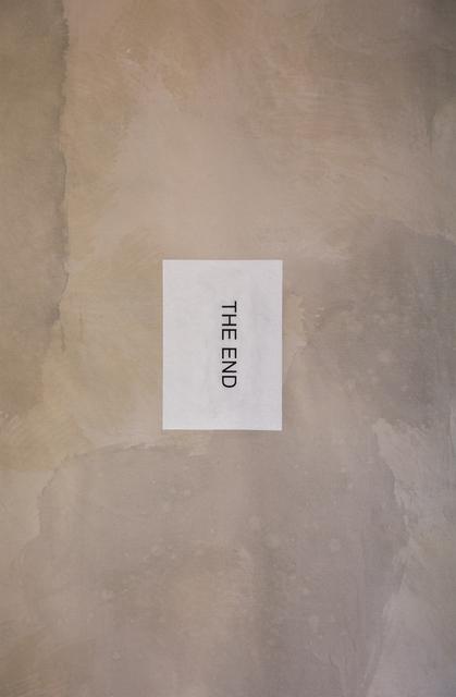 , 'End,' 2019, MLF   MARIE-LAURE FLEISCH