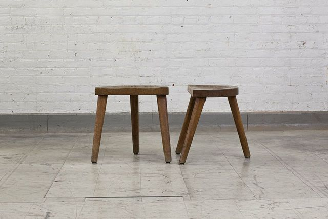 , 'Set of 3 wood stools,' ca. 1950, Magen H Gallery