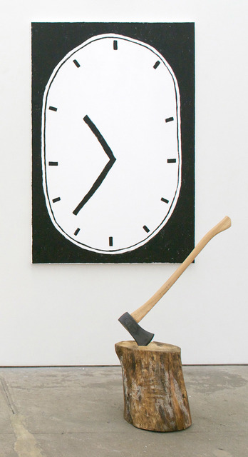 , 'Untitled (Clock Painting after Jim Dine),' 2015, Johannes Vogt Gallery