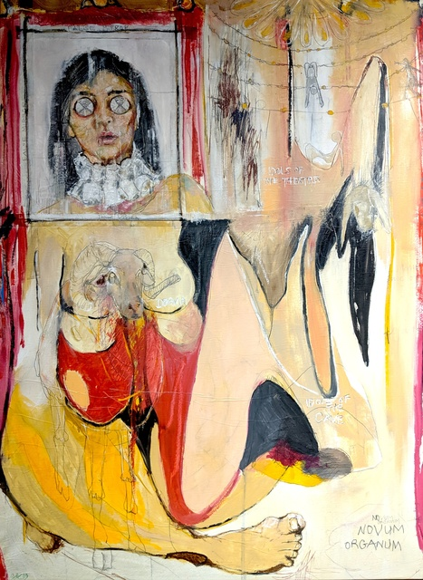 Elaine Del Cerro Yau, 'Idols of the Theater ', 2019, Painting, Mixed Media, Conde Contemporary