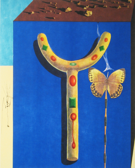 Salvador Dalí, 'Surrealist Crutches', 1971, Print, Lithograph with etching, DTR Modern Galleries
