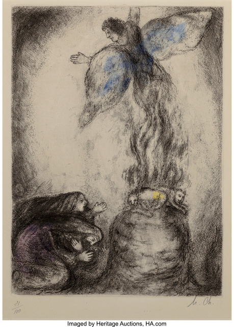 Marc Chagall, 'Sacrifice de Manoach, from The Bible', 1956, Heritage Auctions
