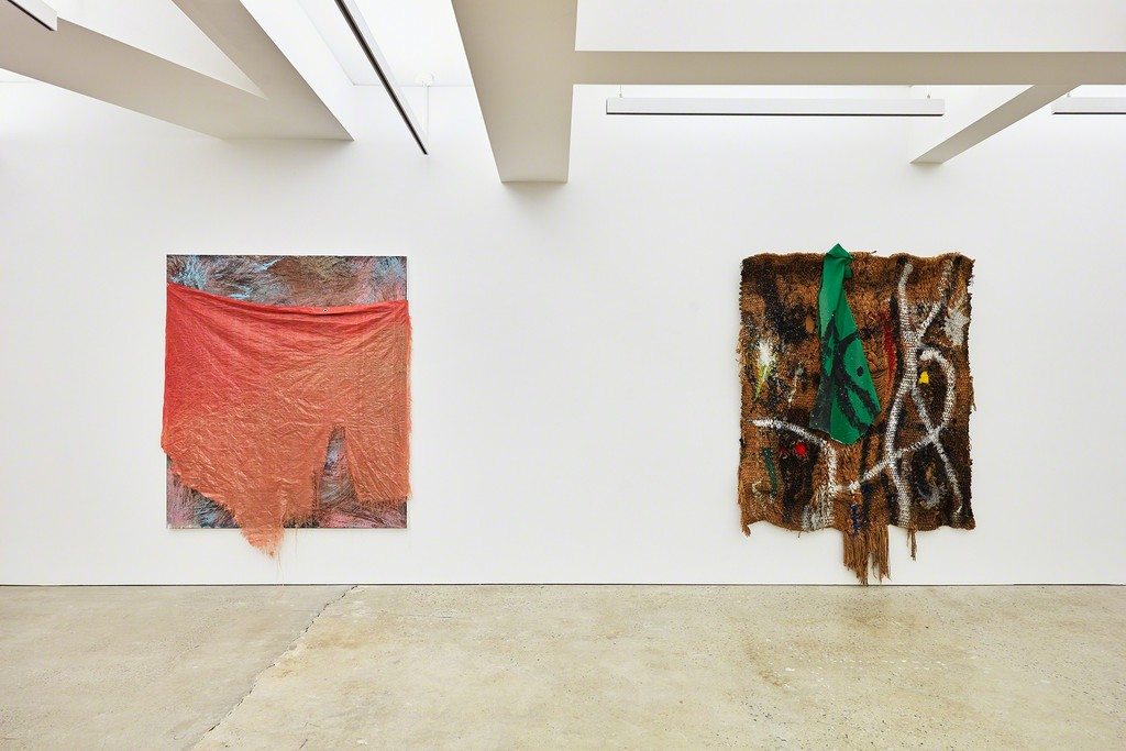 © 2018, Successió Miró/Artists Rights Society (ARS), New York © David Hammons  Installation view, Nahmad Contemporary, Photographs by Tom Powel Imaging