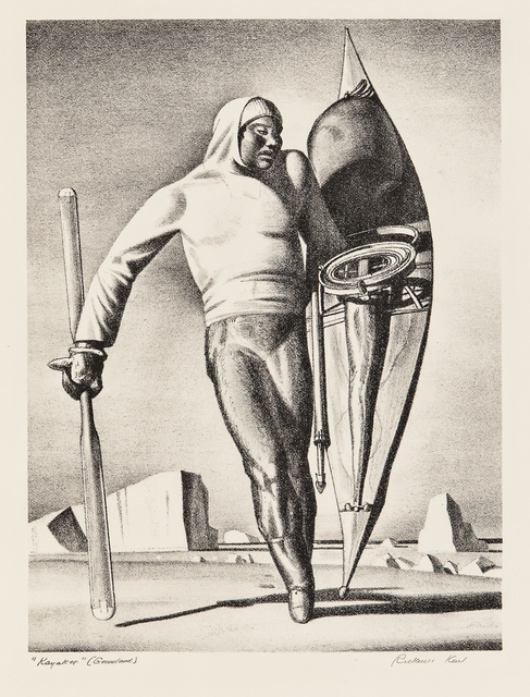 Rockwell Kent, 'Greenland Hunter, alternatively titled Kayaker', 1933, Skinner