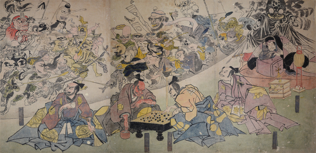 , 'The Earth Spider Conjures Goblins at the Mansion of Minamoto no Yorimitsu (Raiko),' ca. 1843, Ronin Gallery