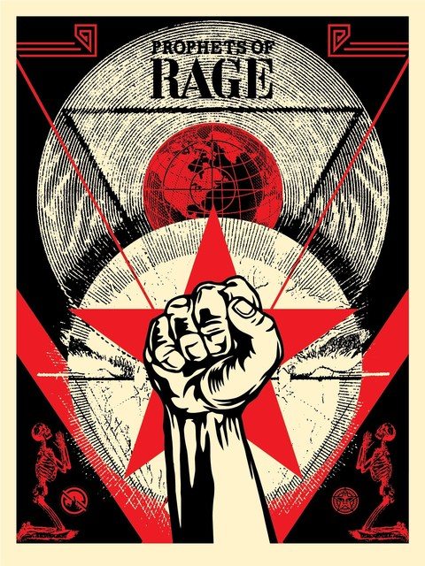 Shepard Fairey, 'Prophets of Rage - New Day Rising', 2019, AYNAC Gallery