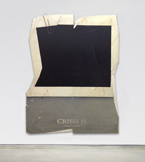 , 'Crisis Is A Private Obsession,' 2017, Bryce Wolkowitz Gallery