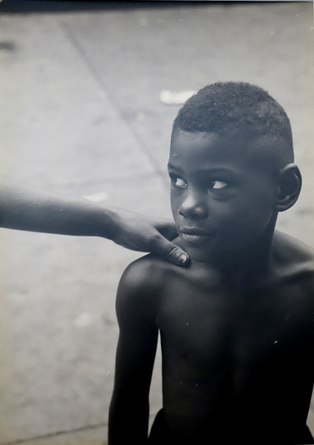 , ''Kids God Bless,' From Belafonte, New York 19 (Boy With Woman's Hand on Shoulder),' 1952, Bill Hodges Gallery