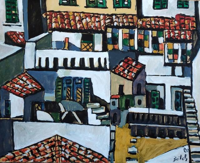 Sotos Zachariadis, 'Neighbourhood', 2020, Painting, Oil on wooden panel, nord.