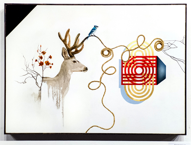 Kevin Earl Taylor, 'Interloper', 2019, Painting, Oil, acrylic, enamel, glaze and 22k goldleaf on panel, ANNO DOMINI