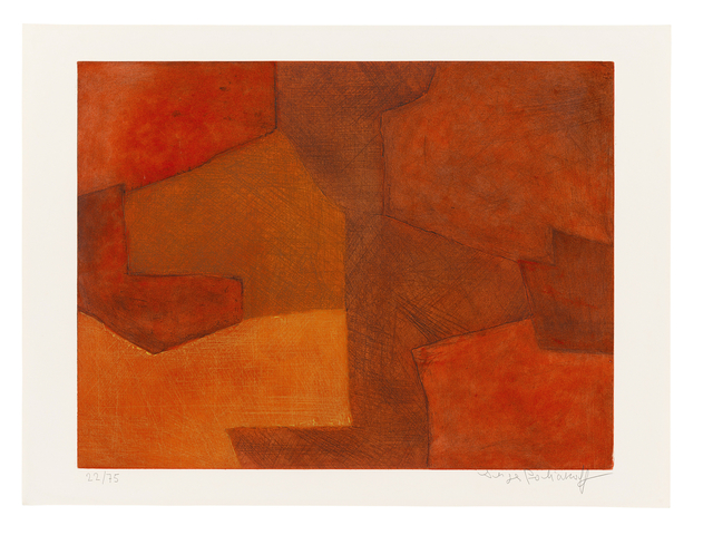 , 'Composition orange et rouge,' 1966, Ludorff
