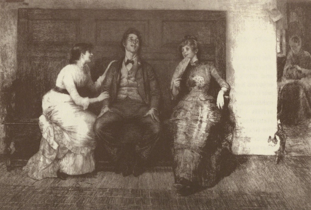 "Hamilton, ""The Meeting,"" etching 1883