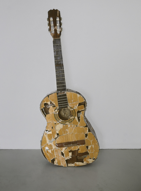 , 'Fuck it up and start again (one guitar smashed and mended 7 times),' 2001, Daniel Marzona