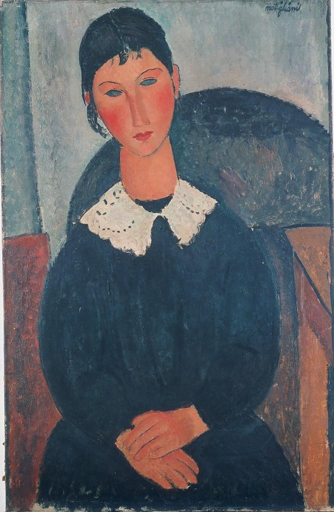 Amedeo Modigliani. Elvire au col blanc (Elvire à la collerette)