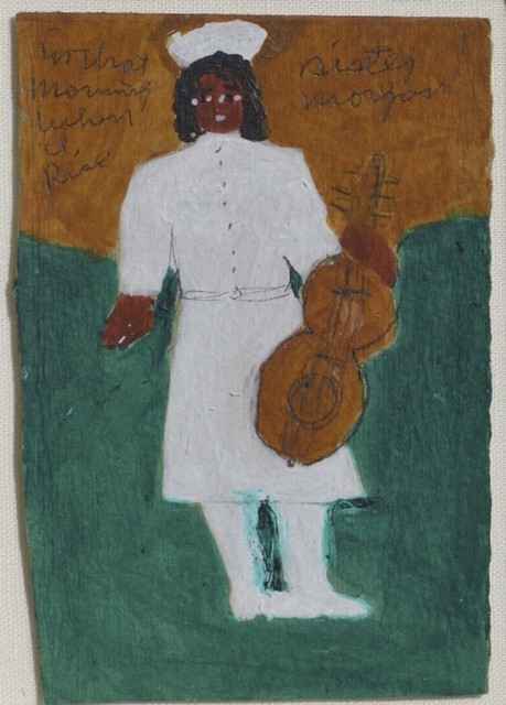 Sister Gertrude Morgan, 'Self-Portrait with Guitar  Inscribed In that/Morning/When/I/Rise', ca. 1971, ZQ Art Gallery