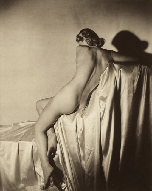 Horst P. Horst, 'Lisa on Silk I,' 1940, Vogue Archives