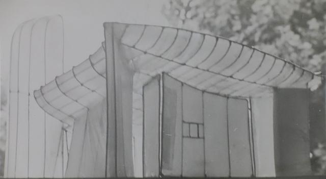 Lucien Hervé, 'Ronchamp Maquette', 1952, Photography, Vintage sliver gelatin print, Michael Hoppen Gallery