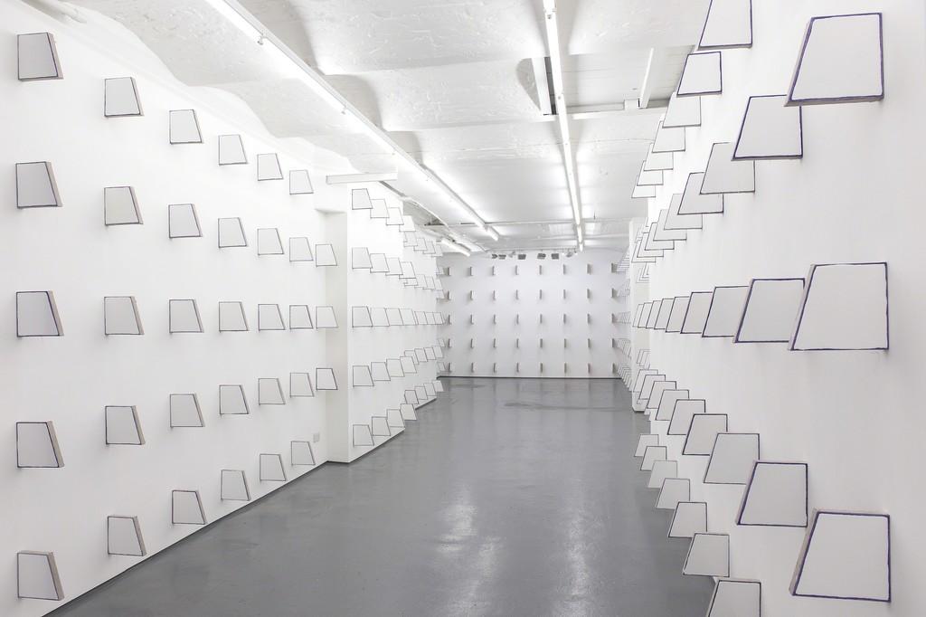 Installation shot, Finbar Ward, 'In Absence', 2016