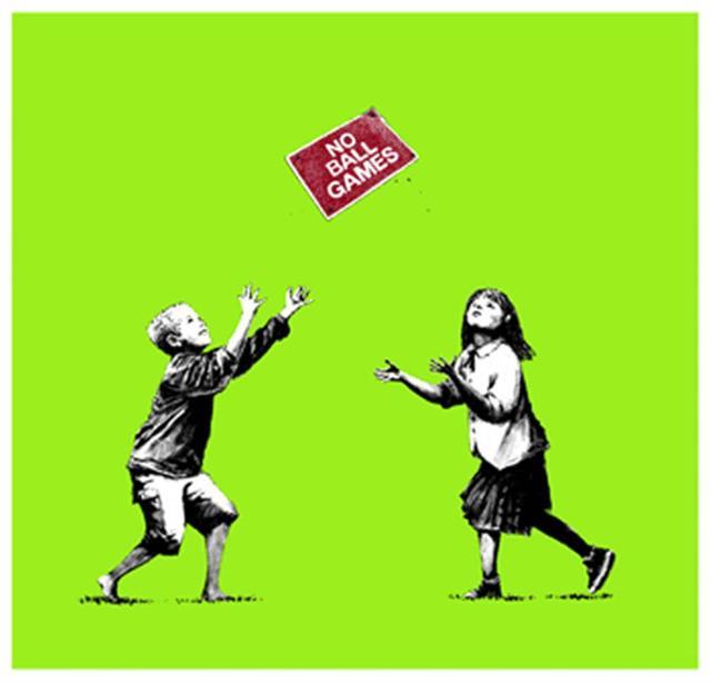 Banksy, 'No Ball Games (Green) - Signed', 2009, Hang-Up Gallery
