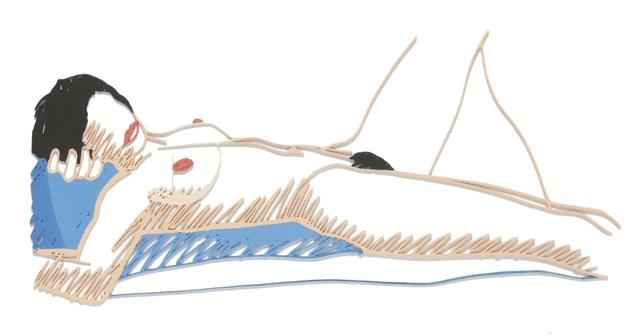 Tom Wesselmann, 'Steel Drawing Edition/Monica Lying on her Side', Other, Enamel on laser-cut steel, Sotheby's