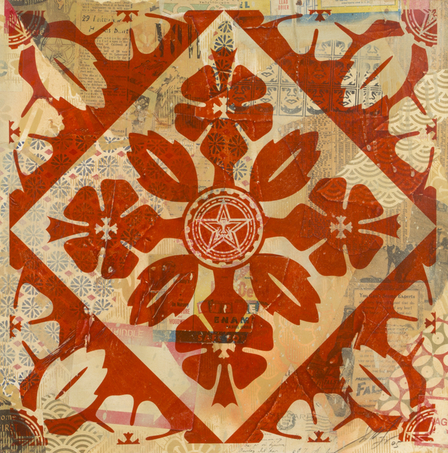 Shepard Fairey (OBEY), 'Flowers (Red)', 2005, Julien's Auctions