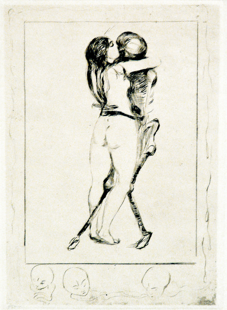 , 'Døden og kvinnen (Death and the Woman),' 1894, John Szoke