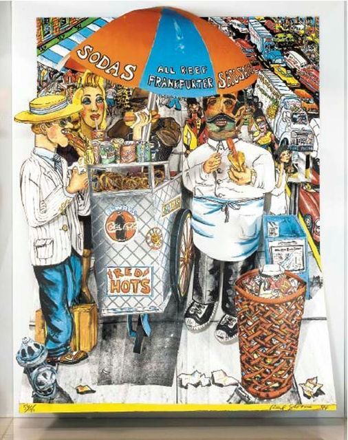 Red Grooms, 'Hot Dog Vendor', 1994, Vertu Fine Art