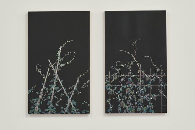 , 'Vue vers le haut (Grimpantes II) (Dyptich),' 2017, Gowen Contemporary