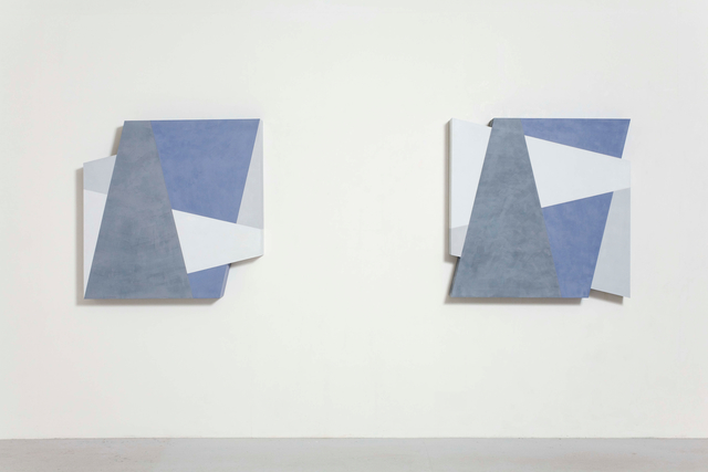 , 'superimposed elements in a square I & II,' 1990, Edition & Galerie Hoffmann