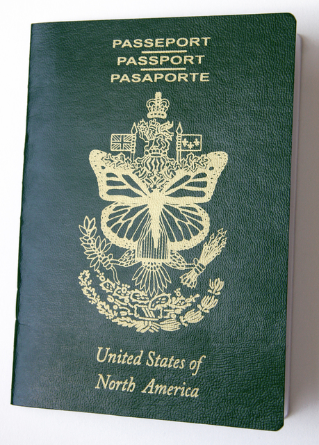 , 'United States of North America Passport,' 2016, RoFa Projects