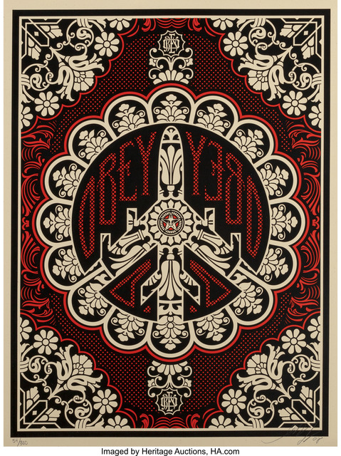 Shepard Fairey (OBEY), 'Peace Bomber (Red/Black)', 2008, Heritage Auctions
