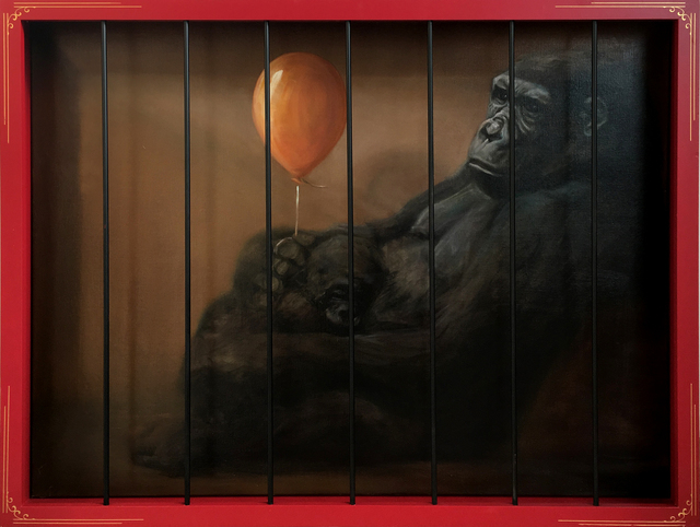 , 'Gorilla in a cage,' 2018, StolenSpace Gallery