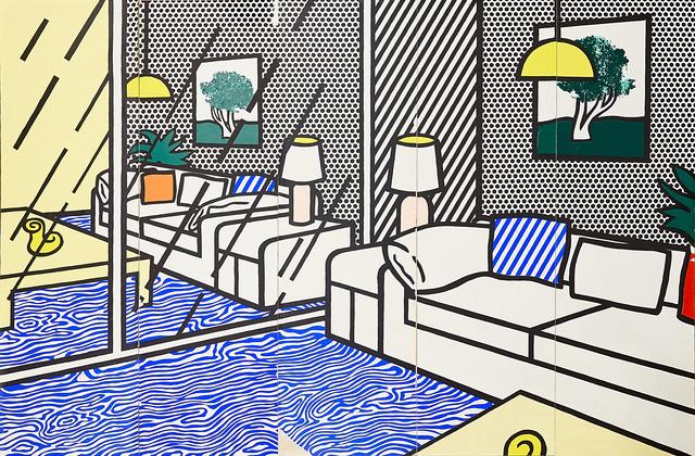 Roy Lichtenstein, 'Wallpaper with Blue Floor Interior', 1992, Rago