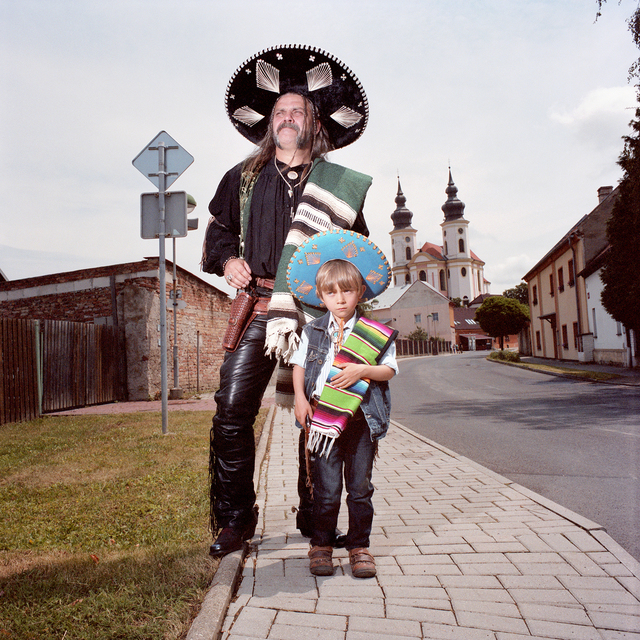 , ''Mexican' Father and Son, Brezno, Czech Republic,' 2014, Circuit Gallery