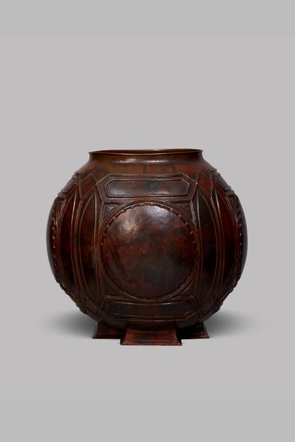 ", 'Spherical copper ""Open"" urn ,' ca. 1902, DeLorenzo Gallery"