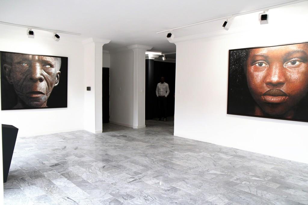 Installation shot   Babajide Olatunji - Tribal Markings   TAFETA projects, Lagos