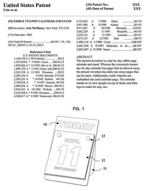 , 'VitaCal Patent Paperwork,' 2017, AA LA