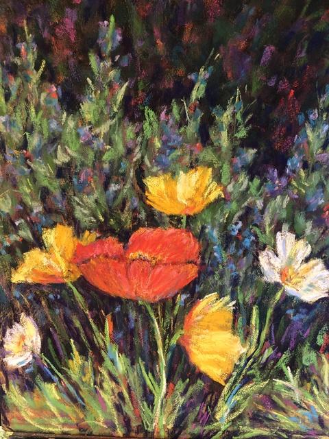, 'River Park Poppies,' 2019, Tim Collom Gallery