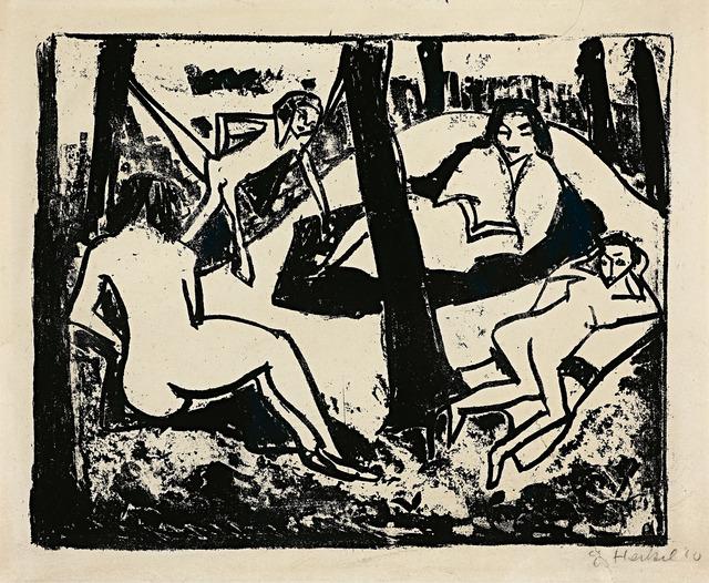 , 'Szene im Wald,' 1910, Galerie Herold