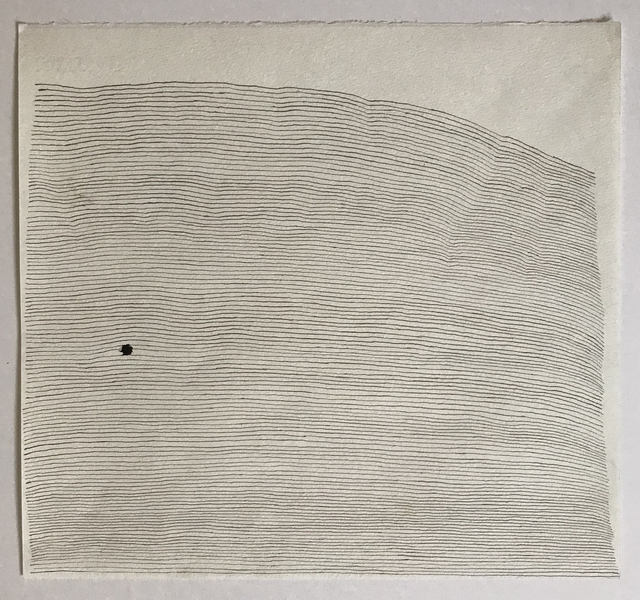 , 'Lines on A Page with a Dot,' 2019, InLiquid