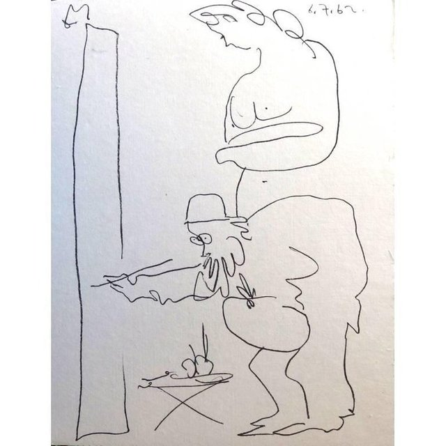 """Pablo Picasso, 'Original Lithograph """"The Painter and his Model I"""" by Pablo Picasso', 1962, Galerie Philia"""