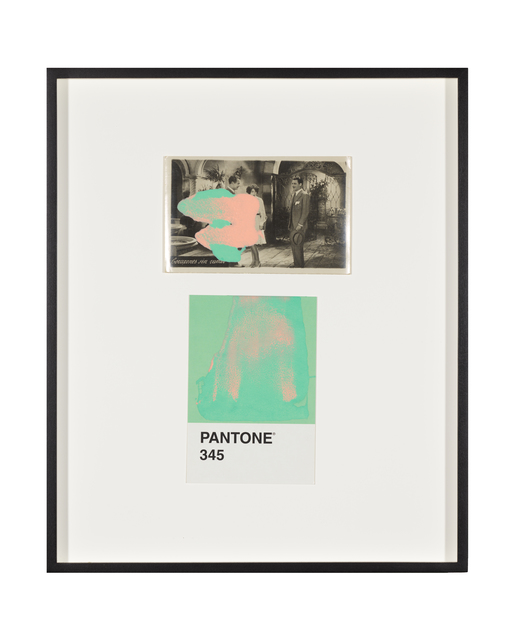 Tacita Dean, 'Pantone Pair (345)', 2020, Painting, Found Pantone card paired with postcard from the artist's collection, monoprinted and framed to the artist's specifications, Gemini G.E.L. at Joni Moisant Weyl