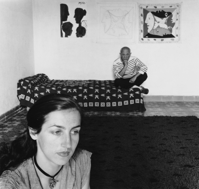Robert Doisneau, 'Pablo Picasso et Françoise Gilot', 1952, Photography, Gelatin Silver Print, Staley-Wise Gallery