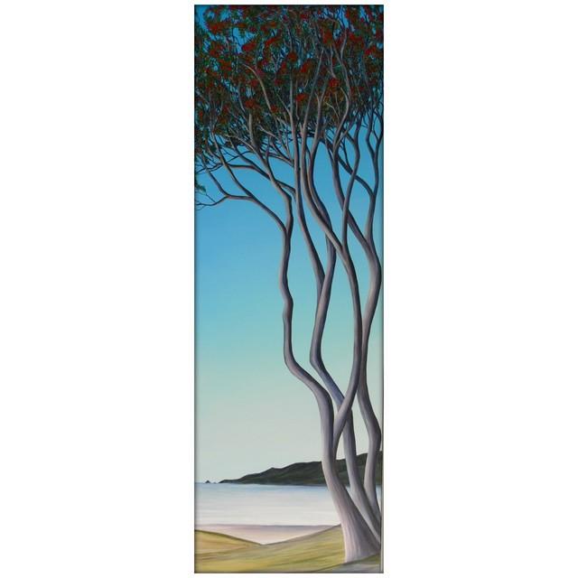 Michael Moore, 'Kapiti Coast Pohutukawa', 2021, Painting, Oil on Canvas, Black Door Gallery