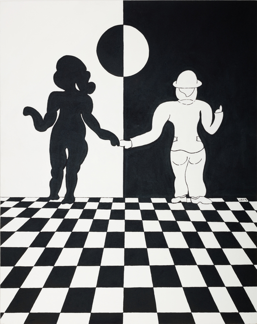 , 'Outrageous Black and White No. 1,' 1995, Paul Kasmin Gallery