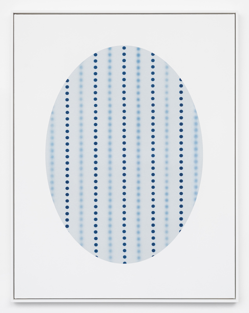 , 'Oval with Dots (white),' 2018, DOCUMENT