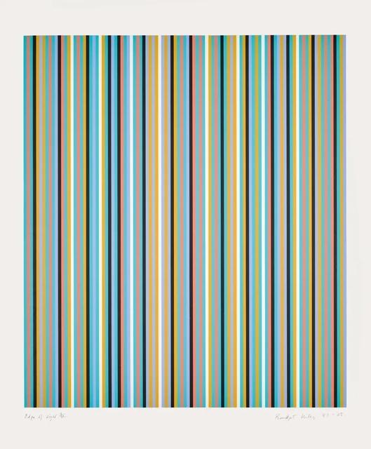 Bridget Riley, 'Edge of Light', 1981-2003, Print, Screenprint on paper, Tanya Baxter Contemporary