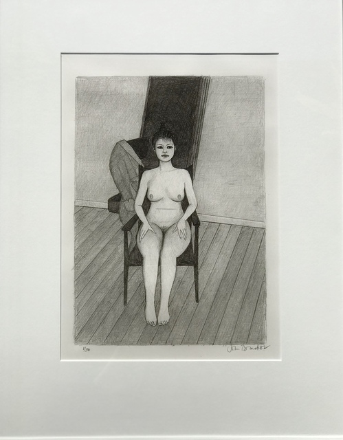John Brack, 'Nude on Chair', 1982, Angela Tandori Fine Art