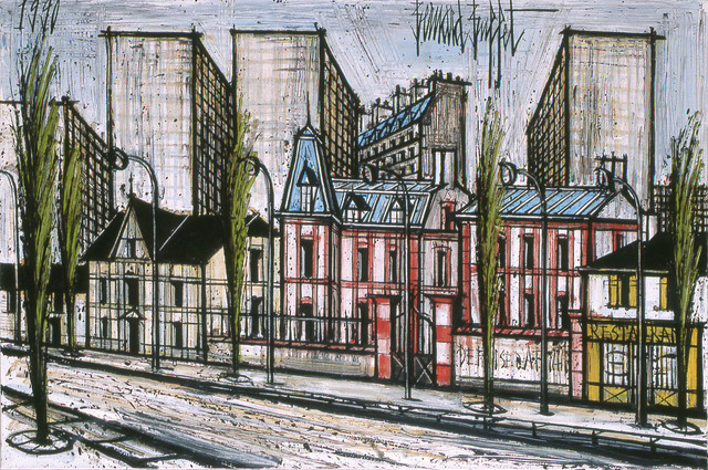 , 'Buildings et maisons rouges,' 1990, Opera Gallery