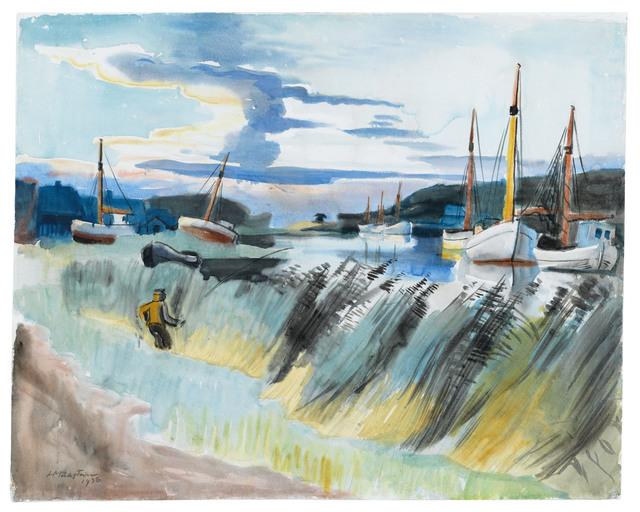 , 'Angler am Lebastrom,' 1936, Ludorff